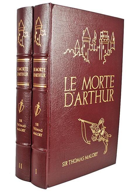 Easton Press LE MORTE D'ARTHUR, Sir Thomas Malory, 2 Vol. Complete Set