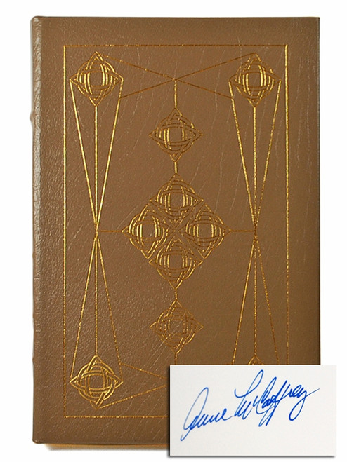 "Anne McCaffrey ""Dragonseye"" Signed First Edition, Leather Bound Collector's Edition No.1062 of only 1,100 w/COA"