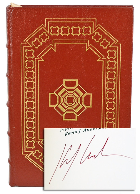 "Easton Press, Kevin Anderson ""Climbing Olympus"" Signed First Edition [Very Fine]"