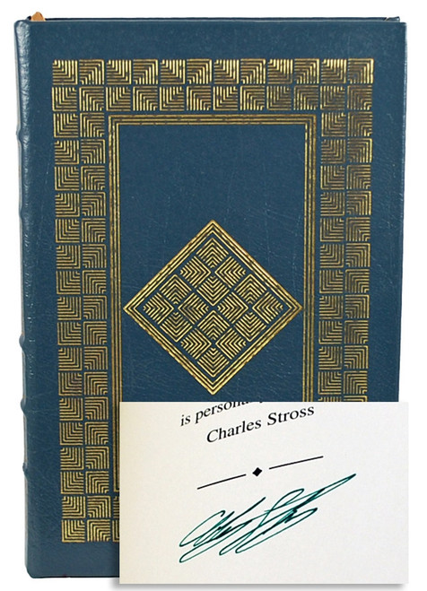 Easton Press Charles Stross Glasshouse Signed First Edition Leather Bound Book