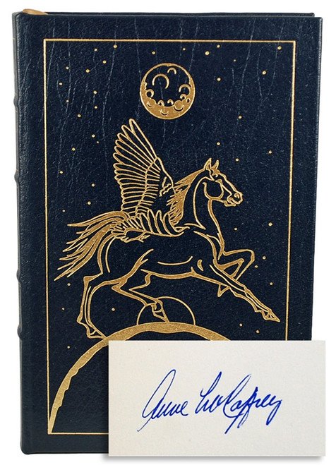 Easton Press Anne McCaffrey Pegasus in Space Signed First Edition Leather Bound Book