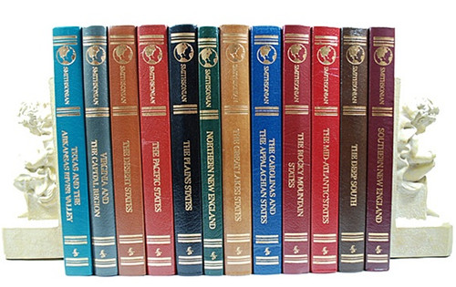 "Easton Press ""The Smithsonian Guide To Historic America"" 12 Vol. Complete Set."