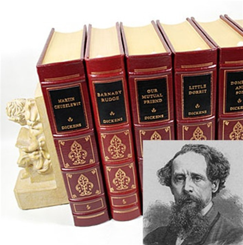 "Easton Press ""The Works of Charles Dickens"" Volume Matching Set"