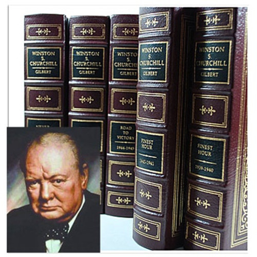 Easton Press, Winston Churchill -The Official Biography 12 Volume Complete Matching Set (Very Fine)