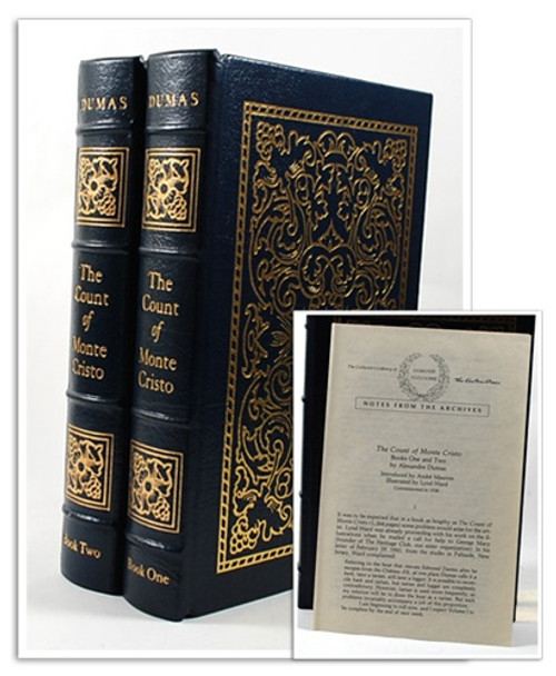"Easton Press ""Count of Monte Cristo"" Alexandre Dumas, 2 Vols: 1941 First Edition, Leather Bound Complete Matching Set"