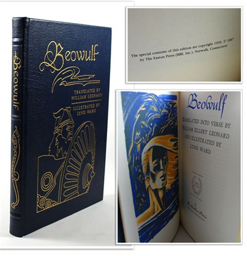 "Easton Press ""Beowulf"" William Leonard, Leather Bound, First Edition"