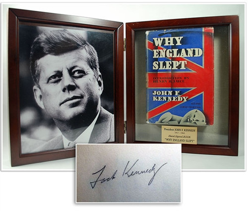 "John F. Kennedy ""Why England Slept"" Signed First Edition (1st/2nd) Early Signature as ""Jack Kennedy"" COA, Presentation Box"