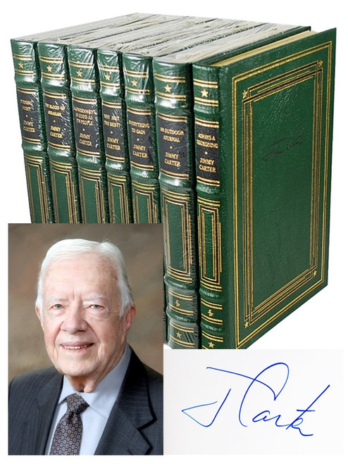 Easton Press Jimmy Carter Signed Collection 7 Volume Complete Set.