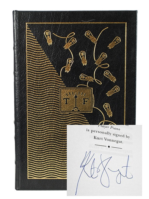 "Signed by Kurt Vonnegut ""Player Piano"" Easton Press Leather Bound"