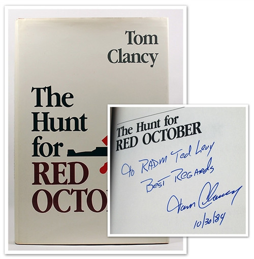 """Tom Clancy """"The Hunt for Red October"""" Signed First Edition - First Printing"""