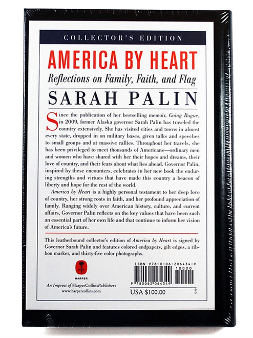 "Sarah Palin ""America by Heart"" Signed First Edition, First Printing. S/L of 1,000"