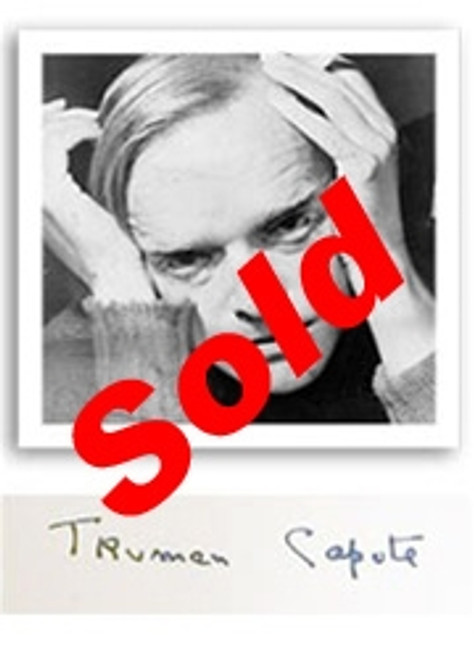 Truman Capote In Cold Bood Signed Limited First Edition