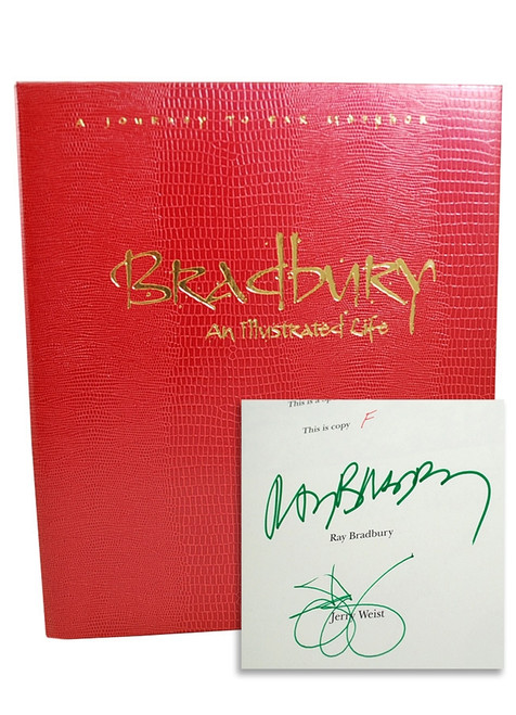 """Ray Bradbury """"An Illustrated Life"""" Deluxe Signed Lettered Edition, """"F"""" in tray-case [Very Fine]"""