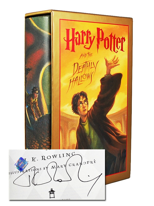 "JK Rowling ""Harry Potter and the Deathly Hallows"" Signed First Edition"