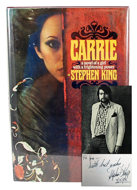 "Stephen King ""Carrie"" Signed First Edition, First Printing, Fine/NF w/Tray Case"