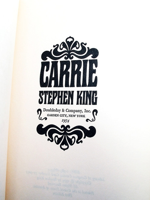 "Doubleday 1974, Stephen King ""Carrie"" US Proof, Softcover (Near Fine)"