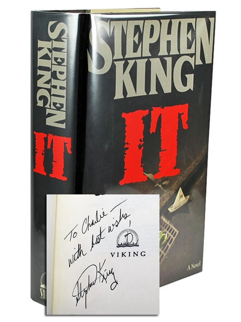"Stephen King ""IT"" Signed First Edition"