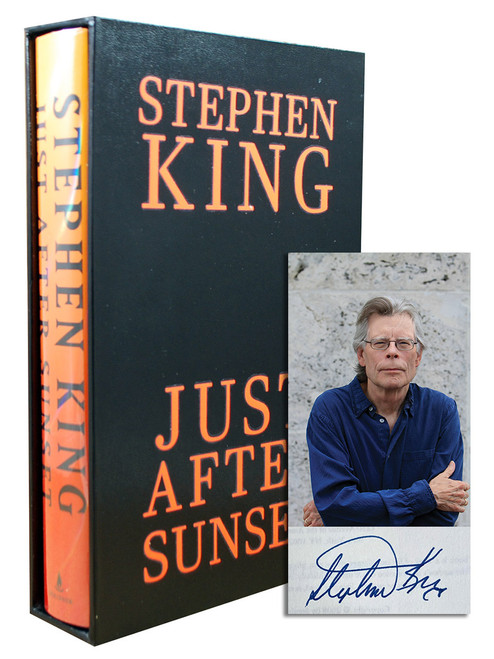 "Stephen King ""Just After Sunset"" Signed First Edition, Book Signing Ticket + Flyer , Slipcased w/COA  [Very Fine/Very Fine]"