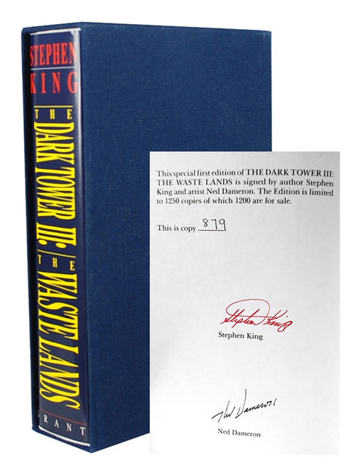 "Stephen King ""The Dark Tower 3 The Waste Lands "" Signed Limited Edition Slipcased #879 of 1,250"