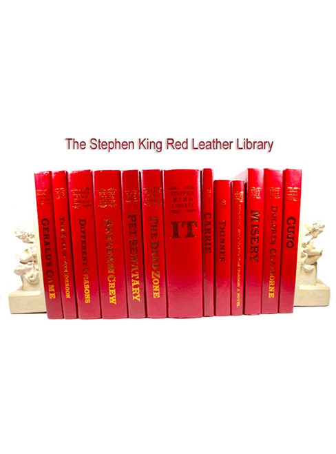 "Stephen King ""The Red Leather Library"" Collection, Complete Matching Set 37 Volumes"