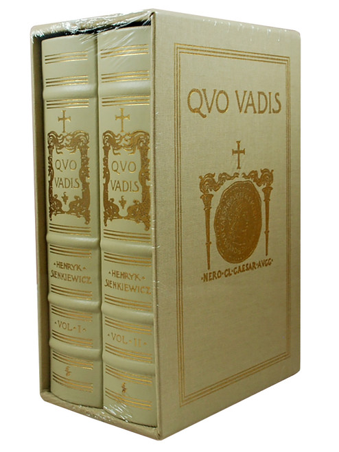 "Henryk Sienkiewicz ""Quo Vadis"" Limited Edition, Leather Bound Collector's Edition 2-Vol Set of only 700, Slipcased [Sealed]"