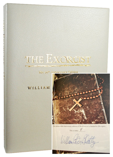 "William Peter Blatty ""The Exorcist: The 40th Anniversary Edition"" Signed Lettered Edition ""F"" of only 26, Traycased"