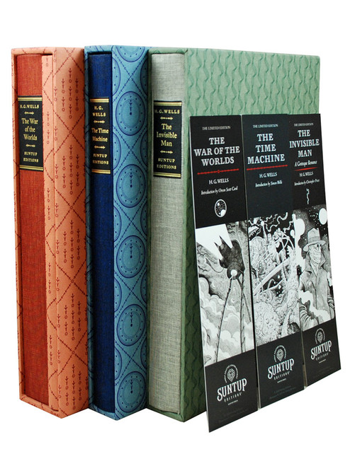 "Suntup Editions - The H.G. Wells Trilogy ""The War of the Worlds"" , ""The Time Machine"", ""The Invisible Man"" Signed Limited Edition, Matching Numbered Set No. 90 of 250  [Very Fine]"