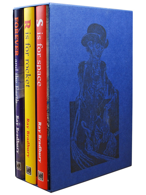 "Ray Bradbury, ""R Is For Rocket"", ""S Is For Space"", ""Forever And The Earth"" Signed Limited Edition No. 49 of 100,  Slipcased [Very Fine]"