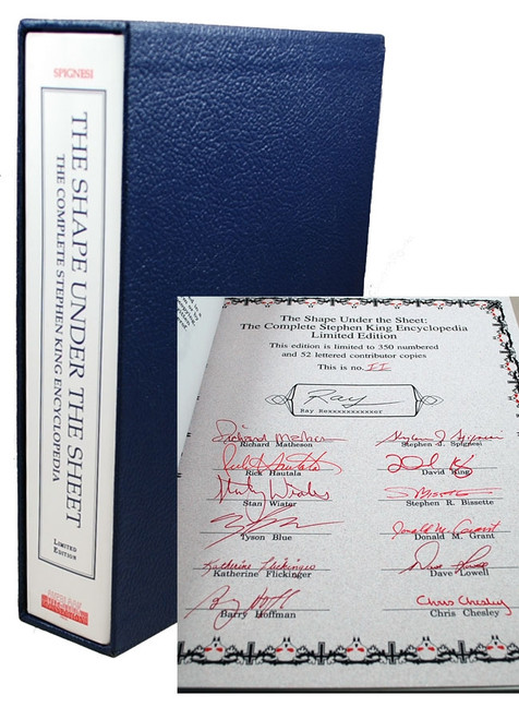 "Stephen J. Spignesi ""The Shape Under The Sheet"" Signed Lettered Edition of only 26,  Slipcased"