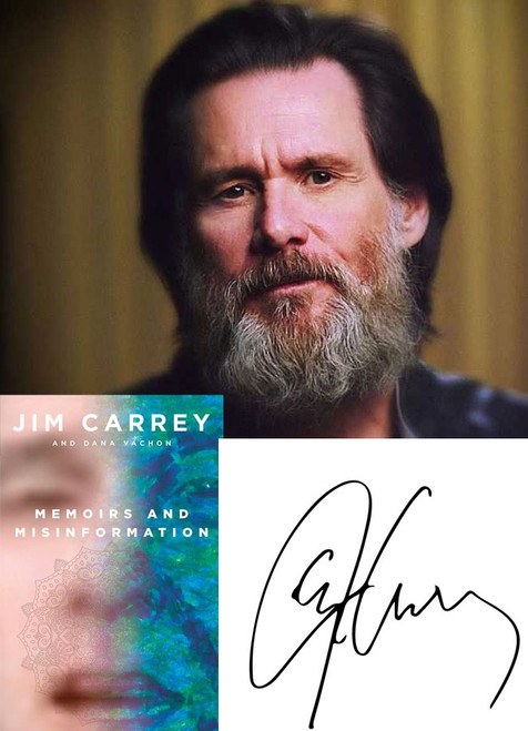 "Jim Carrey ""Memoirs and Misinformation"" Signed First Edition, Limited Slipcased w/COA of only 50  [Sealed]"