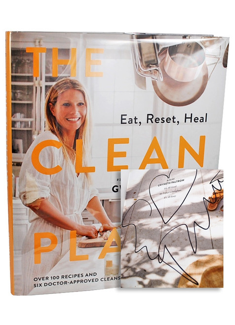"Gwyneth Paltrow ""The Clean Plate"" Signed First Edition, First Printing [Very Fine/Very Fine w/Archival Sleeve Protection]"