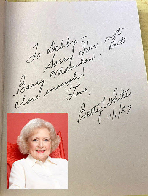 """Betty White """"In Person"""" Signed First Edition, First Printing w/COA (reference to Barry Manilow)"""