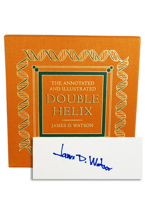 "Easton Press, James D. Watson ""The Annotated And Illustrated Double Helix"" Signed Limited Edition No.163/1,962 Slipcased w/COA"
