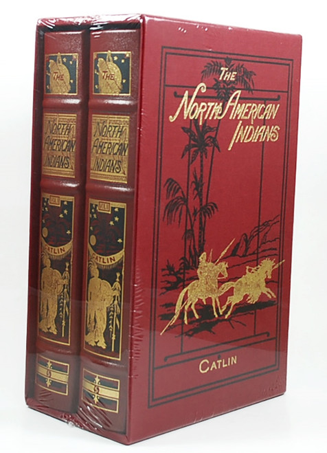 "Easton Press, George Catlin ""North American Indians"" Deluxe Limited Edition, Leather Bound, Slipcased 2-Vol. Set [Sealed]"