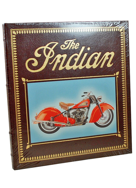 "Easton Press, Tod Rafferty ""The Indian: The History of a Classic American Motorcycle"" Deluxe Leather Bound Limited Edition  [Sealed]"