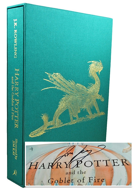"J.K. Rowling ""Harry Potter and the Goblet of Fire"" Signed Deluxe Artist Edition Slipcased, Signed by Jim Kay [SEALED]"