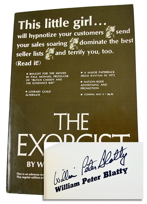 "William Peter Blatty ""The Exorcist"" Signed First Edition Proof w/ COA, Custom Tray-case."