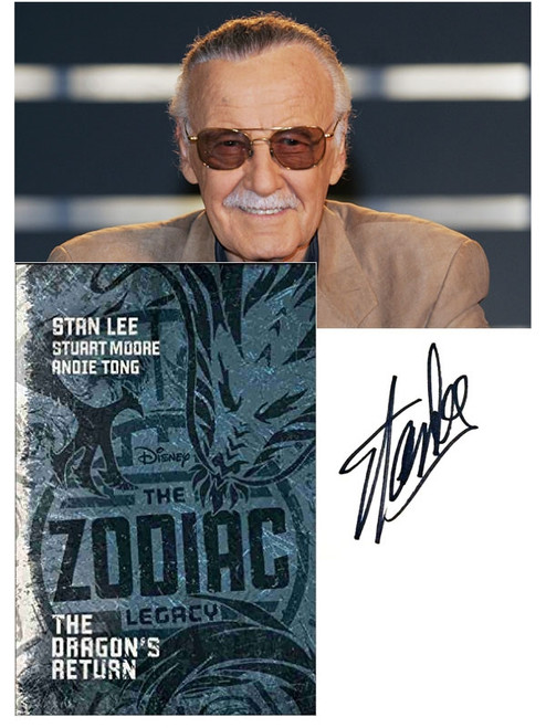 """Stan Lee """"The Zodiac Legacy: The Dragon's Return"""" Signed First Edition dj/JC [Very Fine]"""