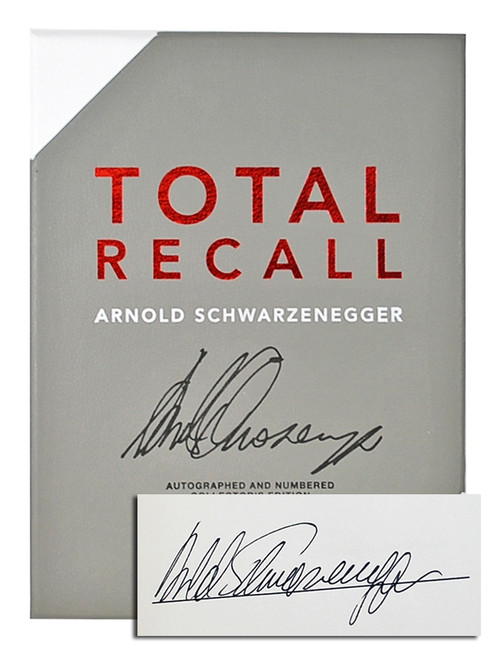 """Arnold Schwarzenegger """"Total Recall"""", Signed First Edition in Gift Box w/COA (As New)"""