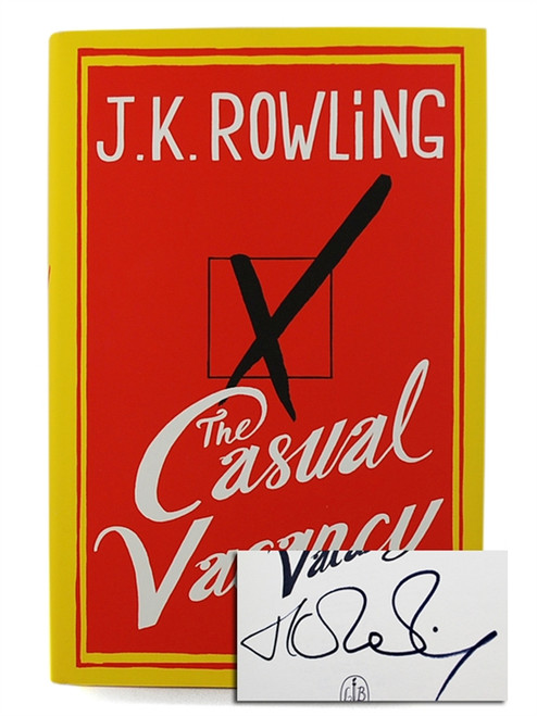 "J.K. Rowling ""Casual Vacancy"" UK Signed First Edition, First Printing"