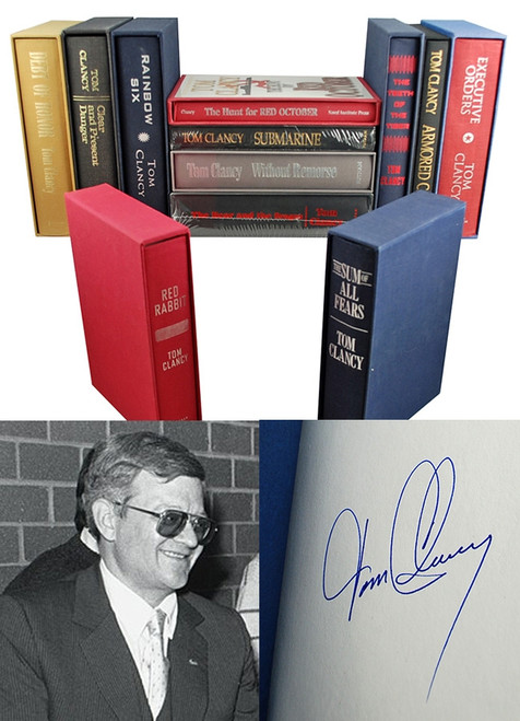 The Tom Clancy Library - Signed Limited Edition Collection, 12 Vols [Very Fine/Sealed]