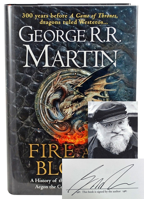 """George R.R. Martin """"Fire And Blood"""" UK Signed First Slipcased Edition w/COA [Sealed]"""