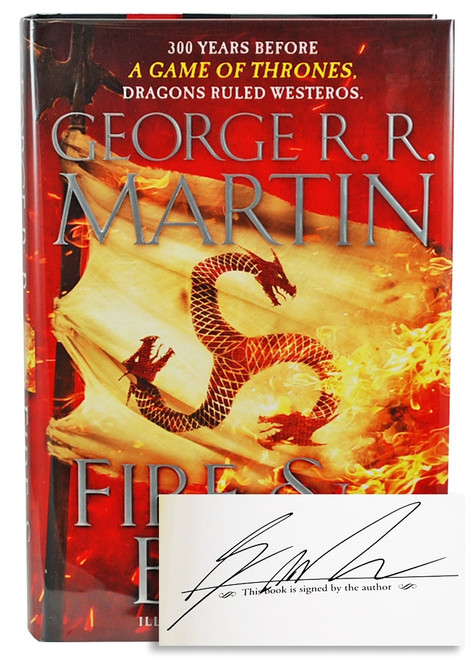 """George R.R. Martin """"Fire and Blood"""" Signed First Edition [Very Fine]"""