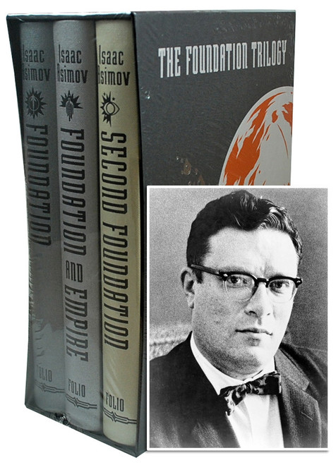 "Folio Society -  Isaac Asimov ""The Foundation Trilogy "" Limited Edition, Collector's Edition 3-Vol. Set [Sealed]"