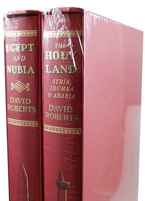 """Folio Society -  David Roberts """"The Holy Land: Syria, Idumea and Arabia"""", """"Egypt and Nubia"""", Collector's Edition, 2-Vol. Fine Edition Set  [Sealed]"""