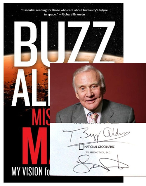 "Buzz Aldrin ""Mission To Mars"" Signed First Edition, First Printing (Very Fine)"