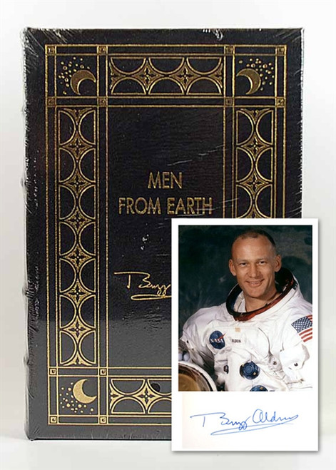 "Easton Press, Buzz Aldrin ""Men From Earth"" Signed Limited Edition (Sealed)"