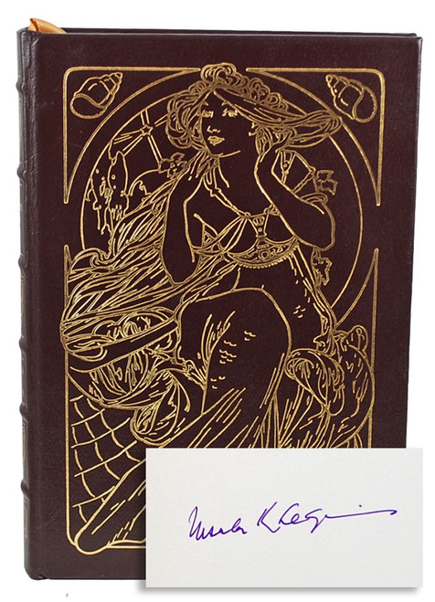 "Easton Press, Ursula K. Le Guin ""A Fisherman of the Inland Sea"" Signed First Edition, Leather Bound Collector's Edition [Very Fine]"