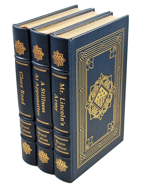 Easton Press, The Works of Bruce Catton, Leather Bound Matching Set, 3 Vols.