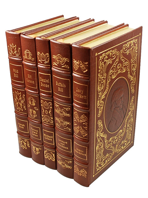 "Easton Press, ""Heroes of the Wild West"" Leather Bound Limited Edition, 5 Vol. Complete Matched Set"